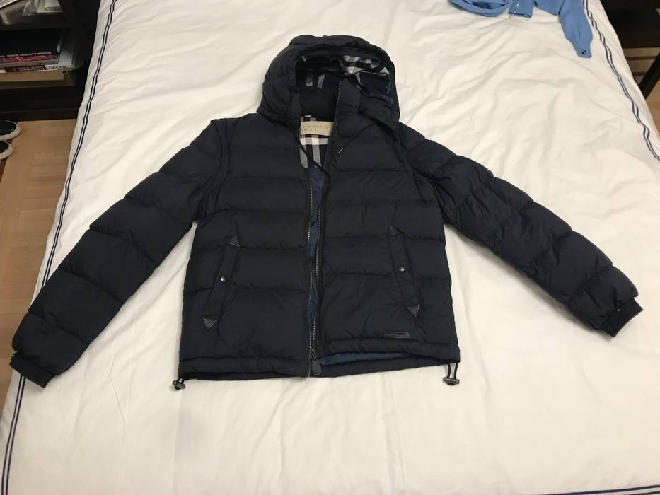110da0488 Burberry Navy Blue Detachable-sleeve Down-filled Puffer Jacket Size ...