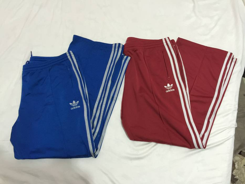 Adidas Lot Of Two 2 Adidas Sweatpants Track Pants Blue And Red