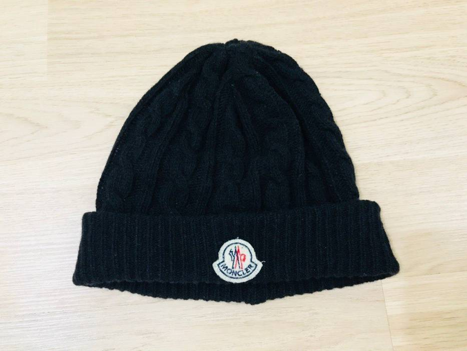 Moncler Moncler black wool beanie Size one size - Hats for Sale ... 27f6cf58345