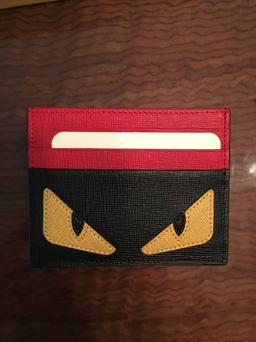 ace548720de5 Fendi Fendi Monster Eyes Leather Card Holder Size one size - Wallets ...