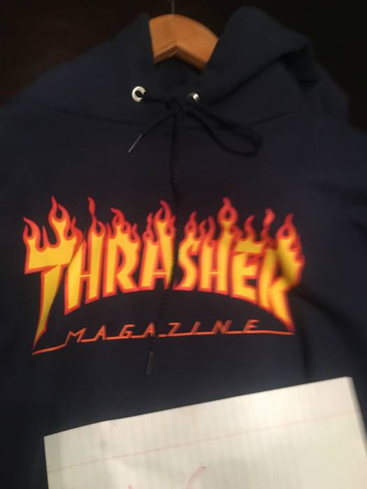 01579056193b Thrasher thrasher flame hoodie navy blue Size l - Sweatshirts ...