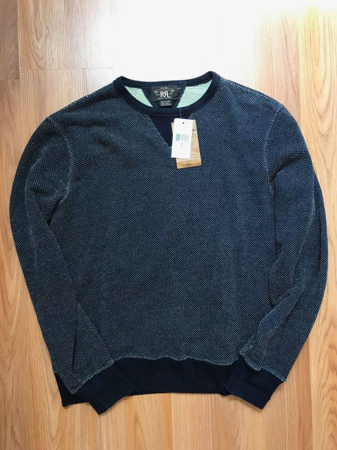 1708d230f ... coupon code for rrl double rl ralph lauren indigo blue sweatshirt size  us m eu 48