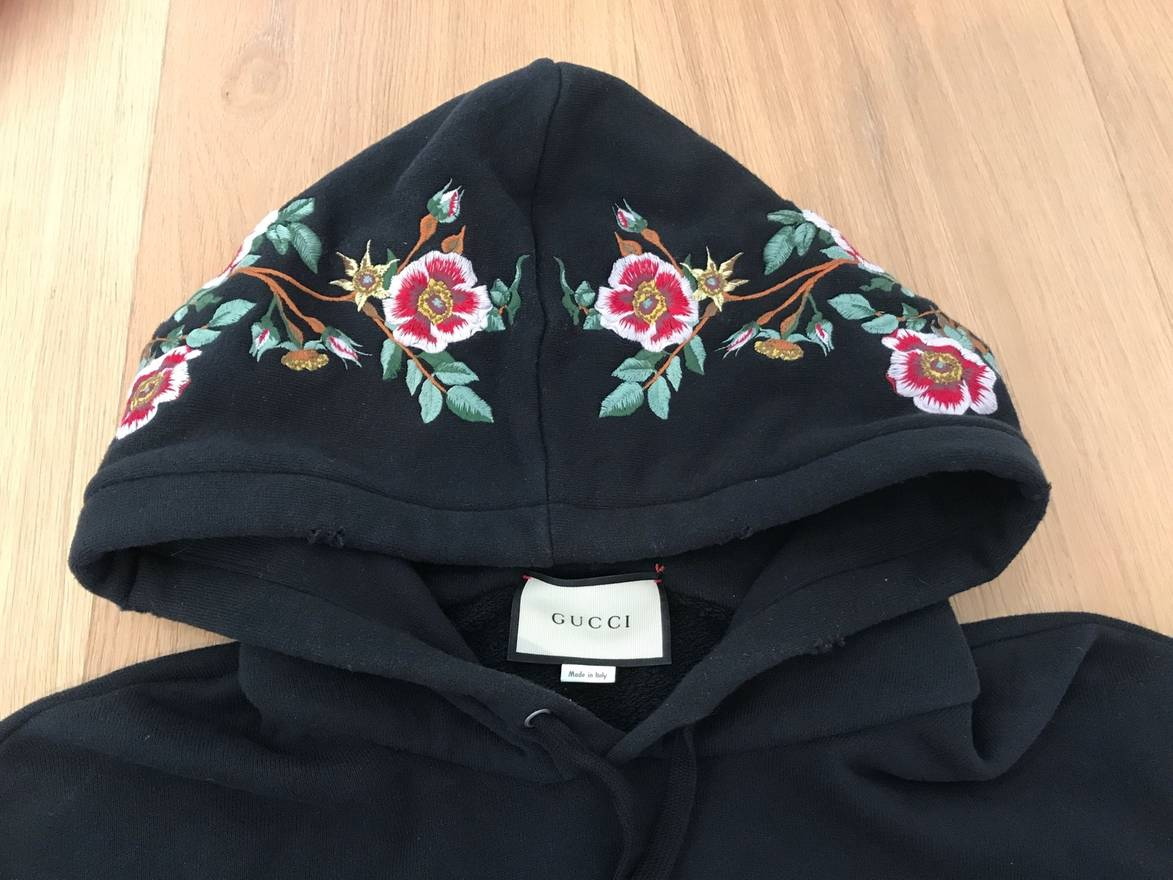 Gucci Embroidered Floral Hoodie Size US L / EU 52-54 / 3 ...