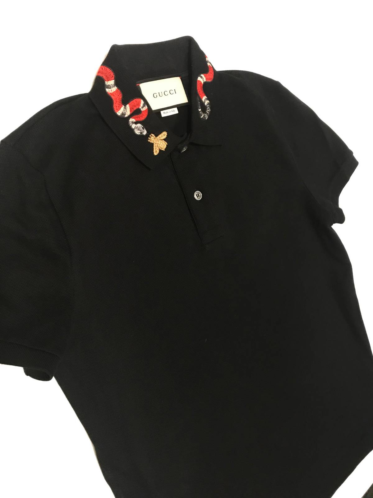 61ef2268e Gucci Cotton Polo with Kingsnake Embroidery Size s - Polos for Sale -  Grailed