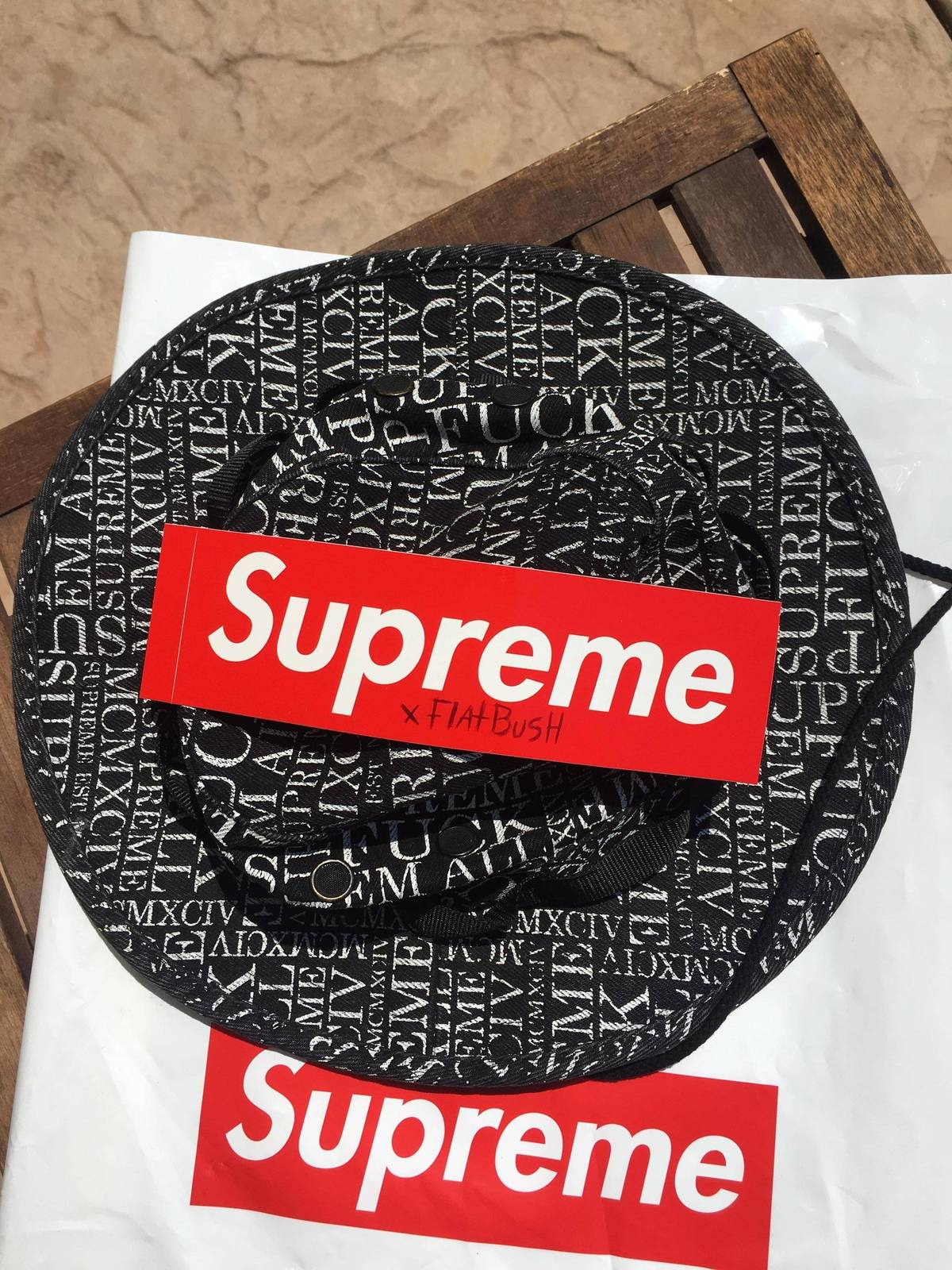 4571fa6cd1d Supreme denim fuck em all boonie hat Size one size - Hats for Sale - Grailed