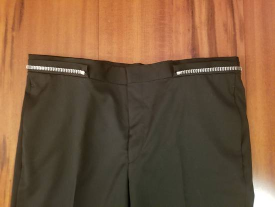 Givenchy Givenchy Black Wool Dress Tailored Pants Zip Detail Zipper Size 52 Brand New Trousers Size 52R - 6
