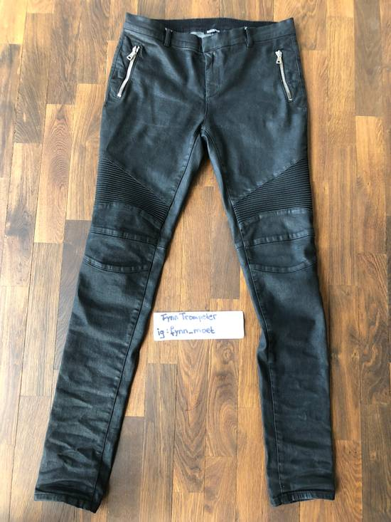 Balmain Balmain Biker Jeans with Zippers Size US 33 - 1