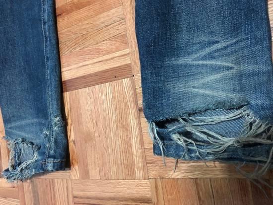 Balmain FW13 Oil Destroyed Indigo Jeans Size 30 (ALTERED) Size US 30 / EU 46 - 6