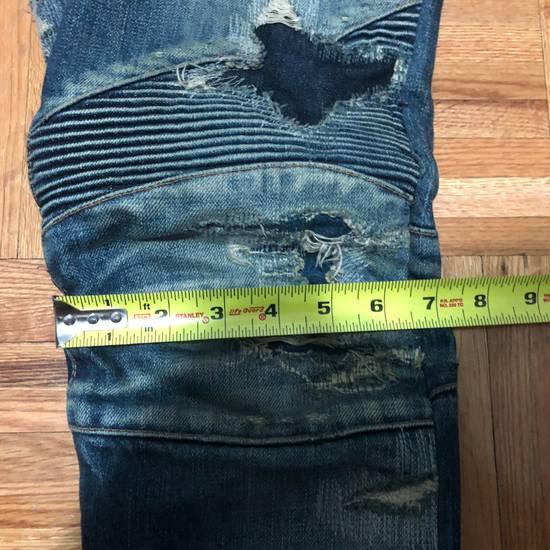 Balmain FW13 Oil Destroyed Indigo Jeans Size 30 (ALTERED) Size US 30 / EU 46 - 10