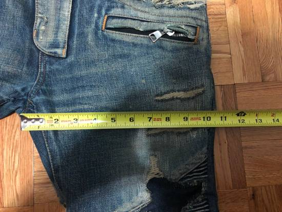 Balmain FW13 Oil Destroyed Indigo Jeans Size 30 (ALTERED) Size US 30 / EU 46 - 9