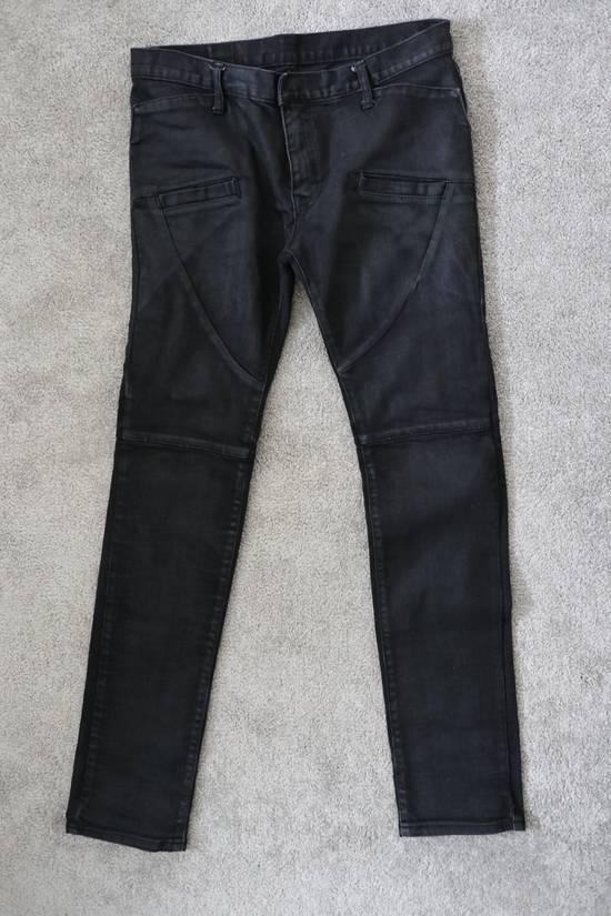 Balmain waxed biker denim & khaki *** 3 for 1 deal (price to sell) Size US 32 / EU 48 - 11