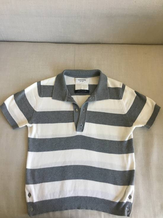 Thom Browne Thom Browne SS07 Grey/White Scotland Cotton Polo Size US S / EU 44-46 / 1
