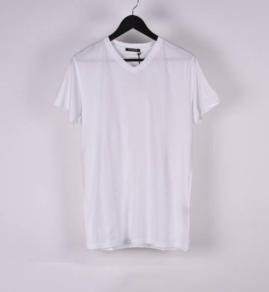 Balmain Paris Men White V Neck T-Shirt, NWT Size US M / EU 48-50 / 2