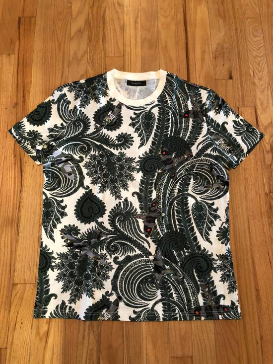 Givenchy Givenchy T Shirt White Green Paisley Fighter Jet Print Size US L / EU 52-54 / 3