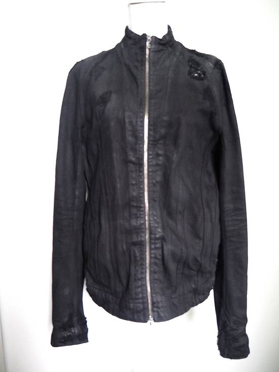 Julius Neurbanvolker black disstressed heavy waxed coat as new Size US L / EU 52-54 / 3