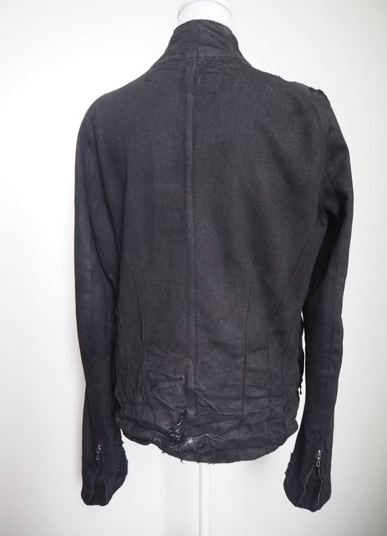 Julius Neurbanvolker black disstressed heavy waxed coat as new Size US L / EU 52-54 / 3 - 7