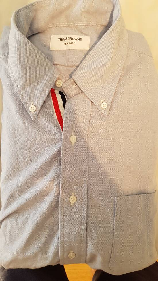 Thom Browne brand new blue shirt with cosgrain Size US XL / EU 56 / 4 - 2