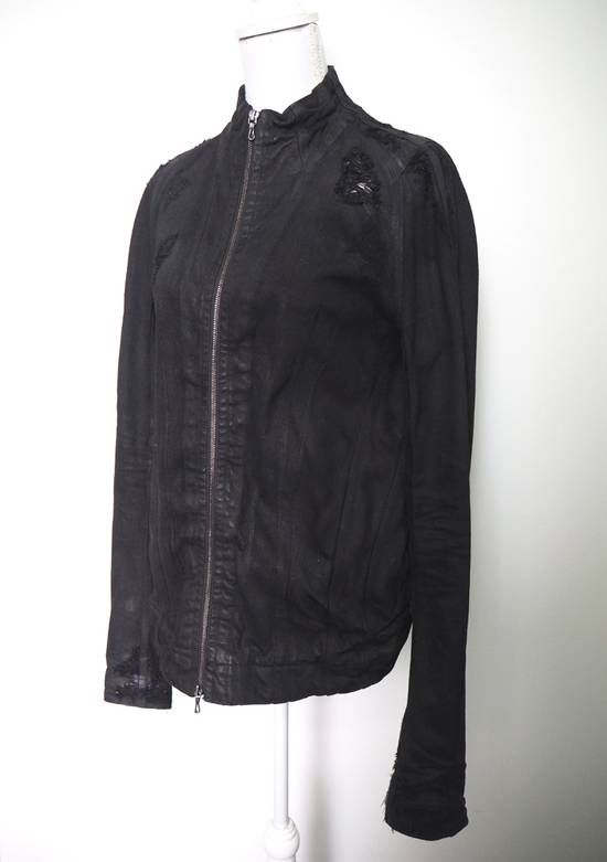 Julius Neurbanvolker black disstressed heavy waxed coat as new Size US L / EU 52-54 / 3 - 4