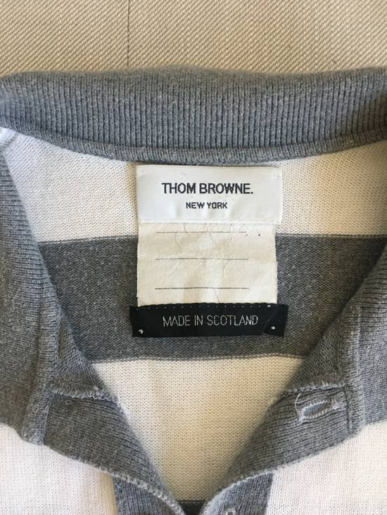 Thom Browne Thom Browne SS07 Grey/White Scotland Cotton Polo Size US S / EU 44-46 / 1 - 2