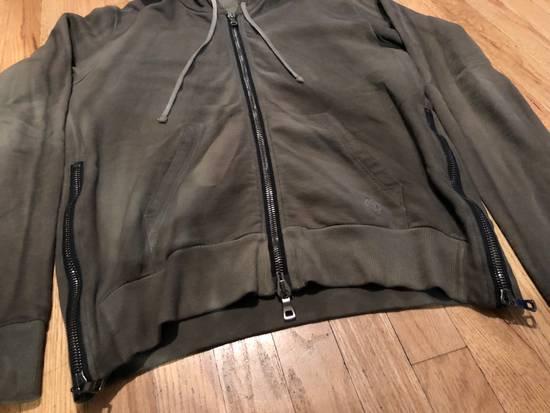 Balmain Balmain Sweatshirt Zip Up Oiled Green Brown Size US L / EU 52-54 / 3 - 1