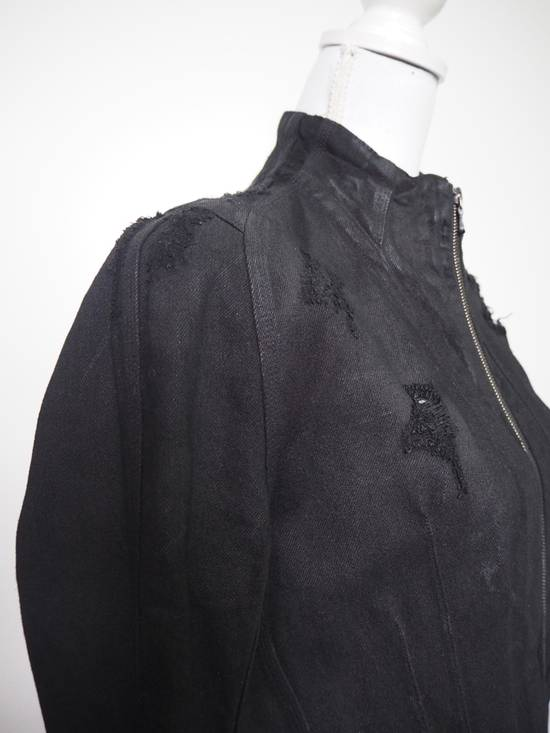 Julius Neurbanvolker black disstressed heavy waxed coat as new Size US L / EU 52-54 / 3 - 6