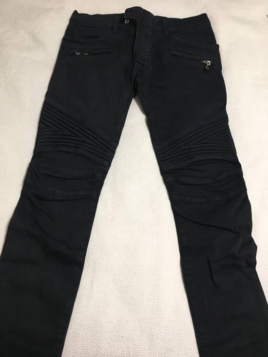 Balmain Navy Biker Jeans Size US 30 / EU 46