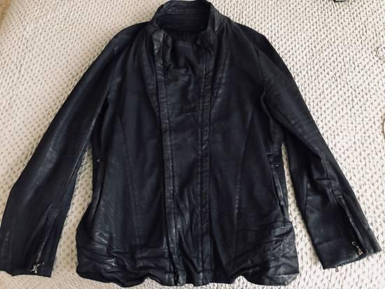 Julius MEN'S BLACK WAXED DENIM JACKET Size US XXL / EU 58 / 5 - 9