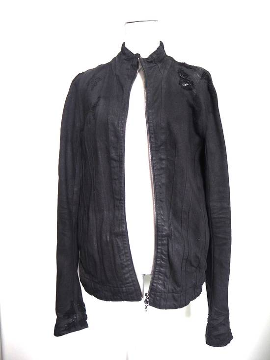 Julius Neurbanvolker black disstressed heavy waxed coat as new Size US L / EU 52-54 / 3 - 1
