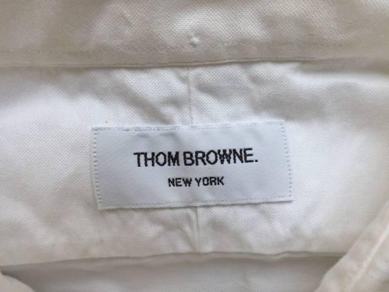 Thom Browne Heavy Cotton White Shirt Size US XL / EU 56 / 4 - 1
