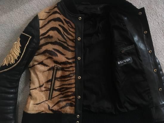 Balmain Rare Tiger Chest Biker Jacket Size US S / EU 44-46 / 1 - 9