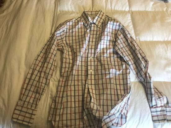 Thom Browne Black Fleece RWB Windowpane Button Up Broadcloth BB0 Size US XS / EU 42 / 0