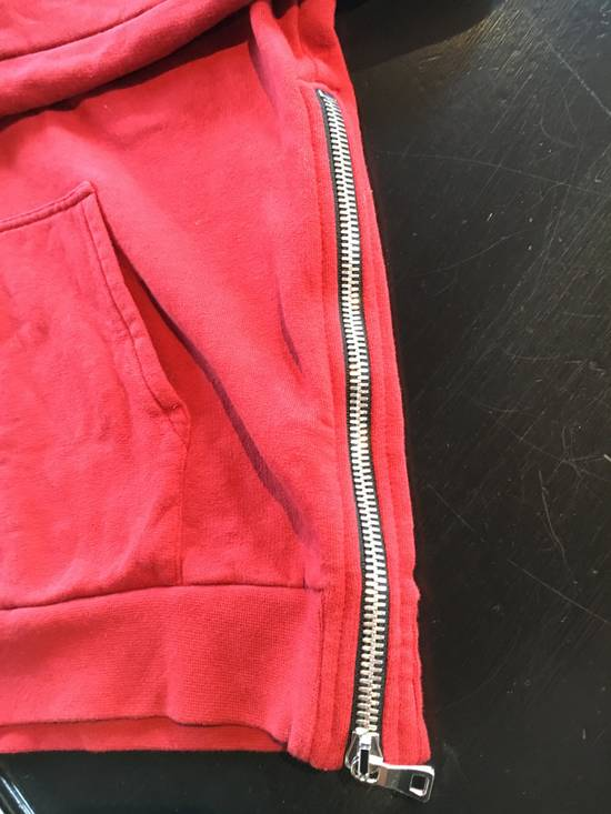 Balmain Balmain Red Hoodie with Zipper Details Size US L / EU 52-54 / 3 - 2