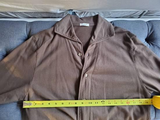 Eidos Napoli EIdos Lupo Brown Knit Button Up Shirt Size US M / EU 48-50 / 2 - 4