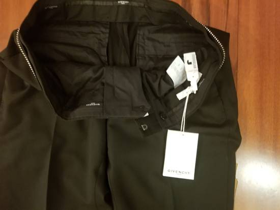 Givenchy Givenchy Black Wool Dress Tailored Pants Zip Detail Zipper Size 52 Brand New Trousers Size 52R - 5