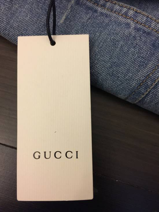 Gucci Bee Embroidered Denim Jeans Size US 32 / EU 48 - 7