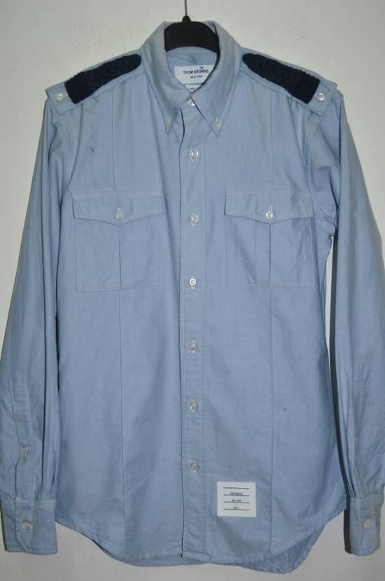 Thom Browne Thom Browne Blue Oxford slim fit Dress shirts Size US L / EU 52-54 / 3 - 1