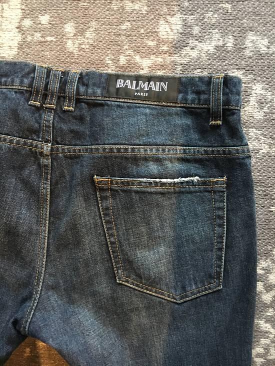 Balmain Balmain blue biker denim Size US 32 / EU 48 - 5