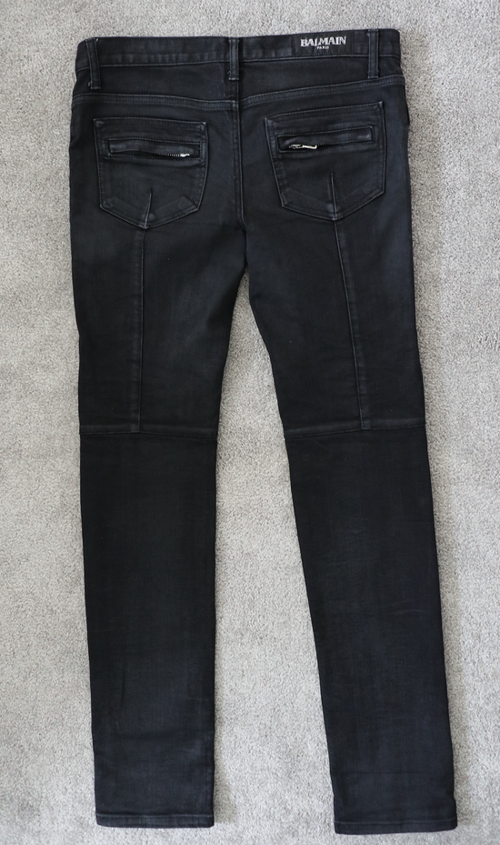 Balmain waxed biker denim & khaki *** 3 for 1 deal (price to sell) Size US 32 / EU 48 - 12