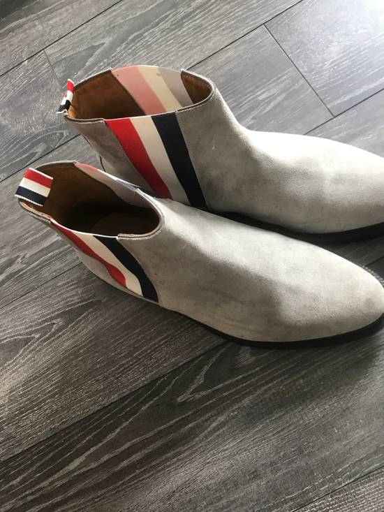 Thom Browne Grey Suede Chelsea boots Size US 10 / EU 43