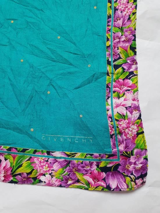 Givenchy Handky Bandana Givenchy Polkadot Green Torqoise Floral Frame Size ONE SIZE - 1