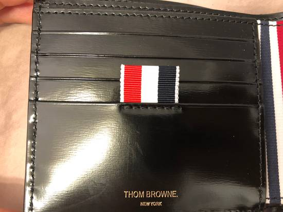 Thom Browne billfolder with painted red, white and blue strip Size ONE SIZE - 4