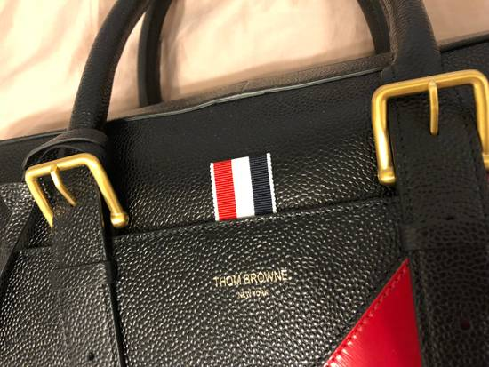 Thom Browne pebble striped briefcase Size ONE SIZE - 3