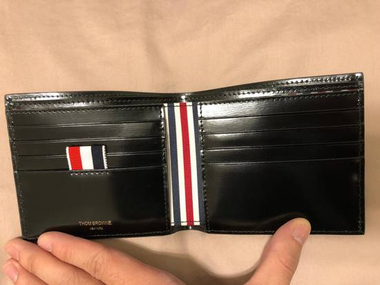 Thom Browne billfolder with painted red, white and blue strip Size ONE SIZE - 3