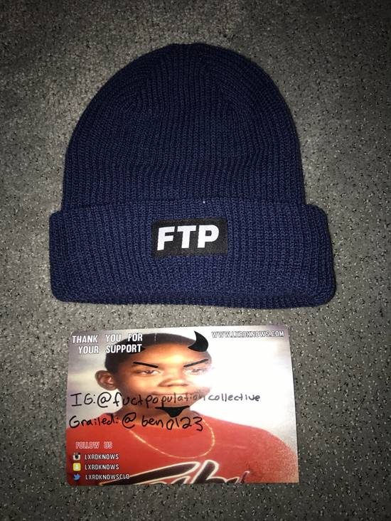 e7bd2224940 Fuck The Population Ftp Dark Blue Navy Beanie Size one size - Hats ...