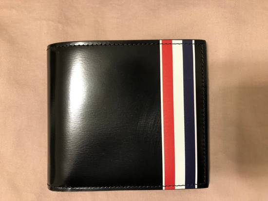Thom Browne billfolder with painted red, white and blue strip Size ONE SIZE