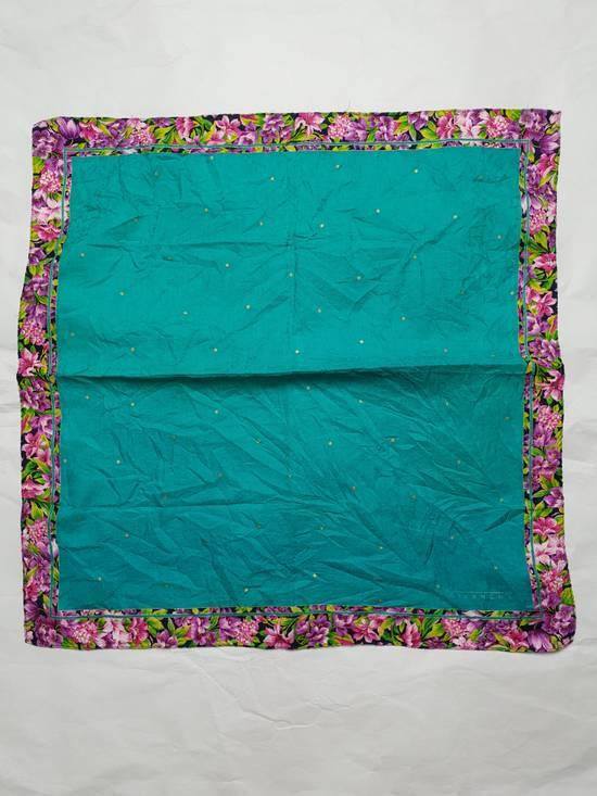 Givenchy Handky Bandana Givenchy Polkadot Green Torqoise Floral Frame Size ONE SIZE - 2
