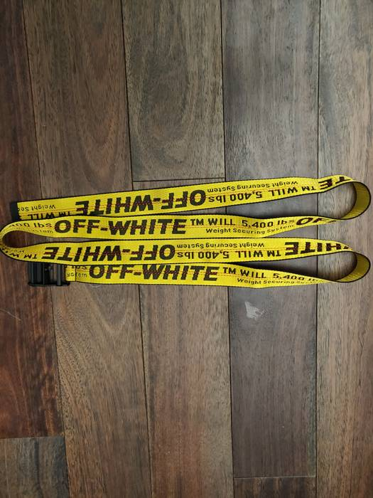 529a55b4b538 Off-White Off White yellow industrial belt Size one size - Belts for ...