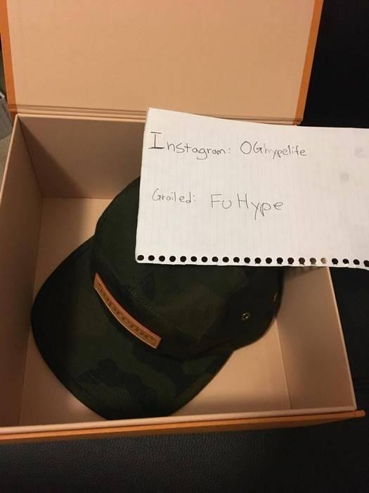 Supreme Louis Vuitton Supreme Camp Cap Hat Camouflage LV Camo Monogram Box  Logo 5 Panel Size 9e169c801fdb
