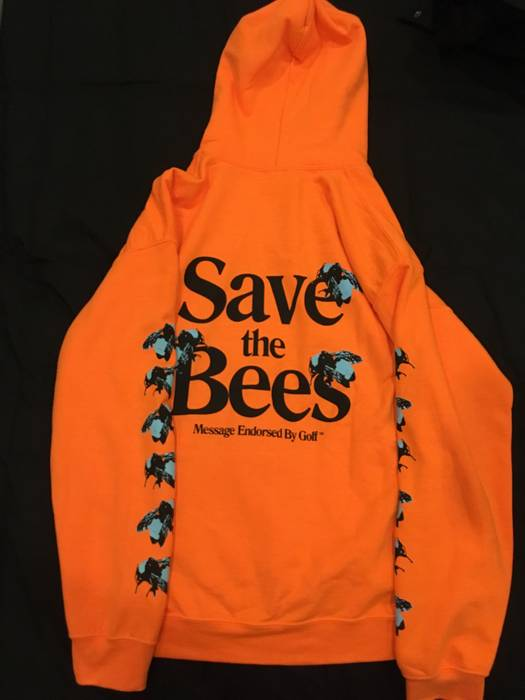 6ae028ddf1bd0f Golf Wang. Save the Bees Hoodie (Orange) Golf Wang. Size  US M   EU 48-50    2