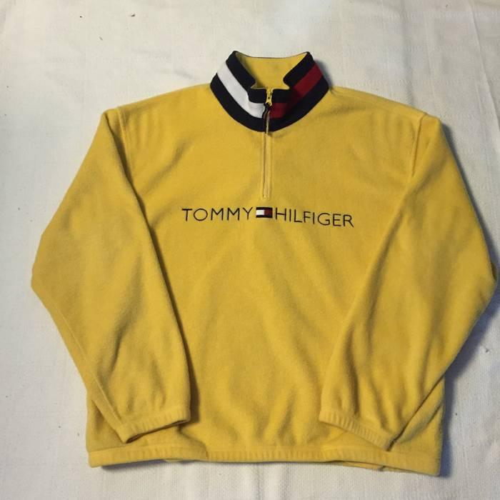 2f4fd0170e368 Tommy Hilfiger Vintage quarter zip fleece pullover Size US XL   EU 56   4